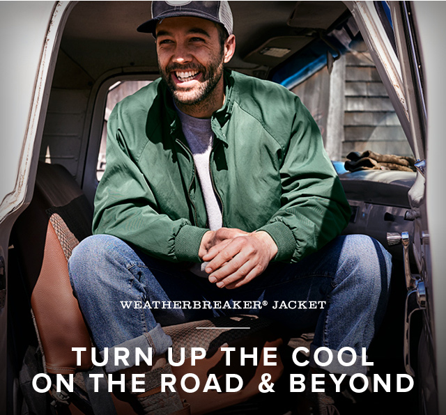 WEATHERBREAKER® JACKET  TURN UP THE COOL ON THE ROAD & BEYOND