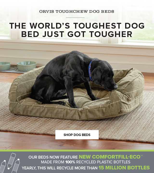 ORVIS TOUGHCHEW® DOG BEDS  THE PERFECT COMBINATION OF STRENGTH AND COMFORT