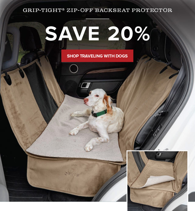 GRIP-TIGHT® ZIP-OFF BACKSEAT PROTECTOR SAVE 20%