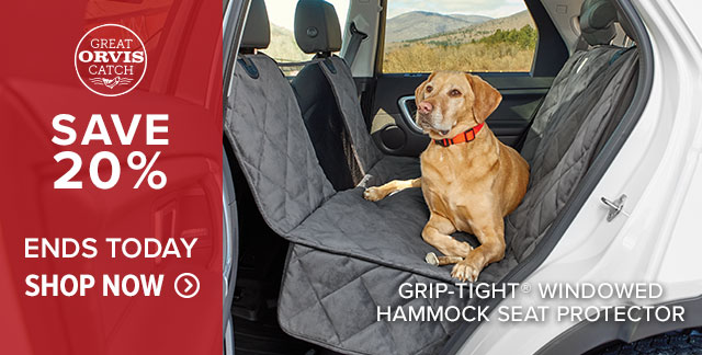 GRIP-TIGHT® WINDOWED HAMMOCK SEAT PROTECTOR SAVE 20% ENDS TODAY
